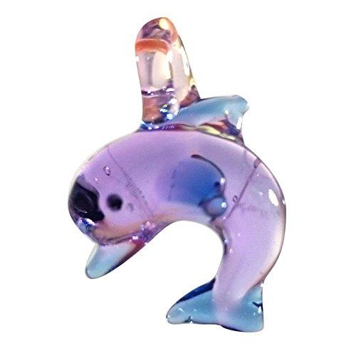Sansukjai Purple Dolphin Pendant Necklace Glass Animals Figurines Hand Blown Glass Art Jewelry Blown Glass - Versace Montreal