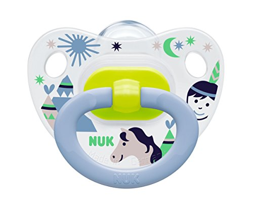 Amazon.com : NUK Baby Pacifier 6-18 Months Silicone Boy ...