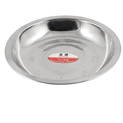 Amazon.com: eDealMax Ronda de acero inoxidable plato de la ...