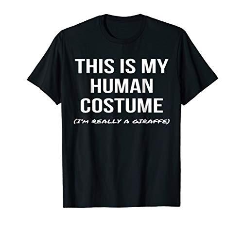 Human Costume I'm Really a Giraffe Shirt Cosplay Tee