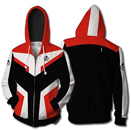 YX Gril Superhero Hoodie Avengers Endgame Hoodie Halloween Cosplay Hooded Adult Sweatshirt (4XL/5XL, Avengers-Zip-02) for $<!--$31.99-->