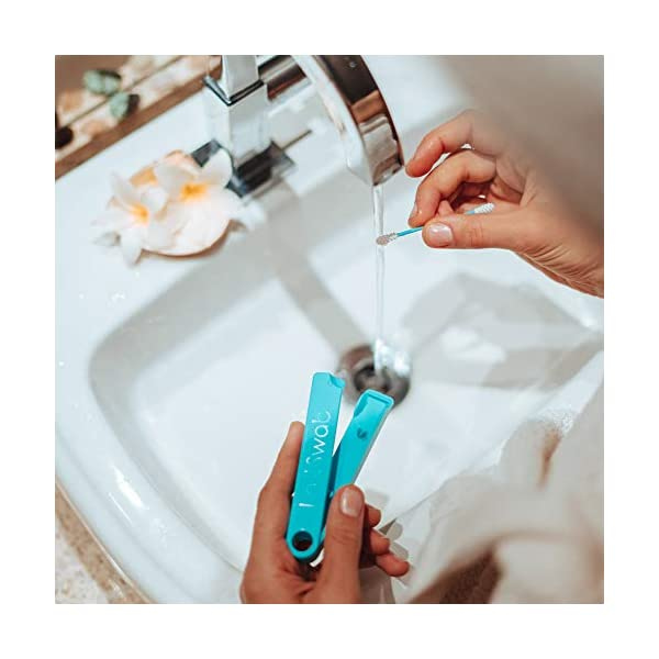 LastSwab Cotton Fioc Riutilizzabili per Pulizia Orecchio– Blu Balena – Cotton Fioc Riutilizzabile Eco-Friendly 5