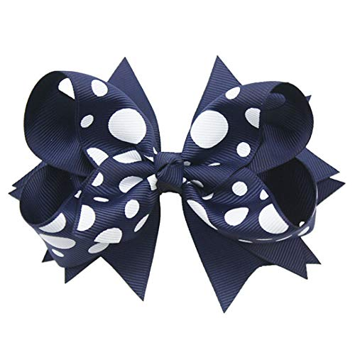 (1PC 5Inches Back To School Girls Hair Bows Children Hairpins Boutique Ribbon Bows Hair Clips Fastion Hair Accessories 10)