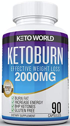 Best Keto Pills - 3X Potent (2000mg | 90 Capsules) - Weight Loss Keto Burn Diet Pills - Boost Energy and Metabolism - Exogenous Keto BHB Supplement for Women and Men - 90 Capsules (Best Fat Burner On The Market Now)