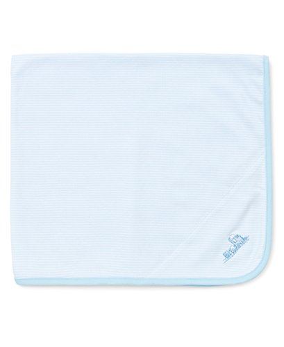 Little Me Baby-Boys Newborn Thank Heavens Tag Along Blanket, Light Blue, One Size, 2-Pack