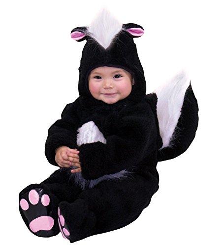 Charades Costumes 82033I Velvet Panne Skunk Infant (Baby Skunk Costumes)