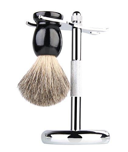 Badger Shaving Brush Chrome Razor