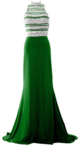 Mermaid Green Beaded Dress Evening Gown Prom Crystal Party Formal Women Long MACloth qP4BgwtAxP