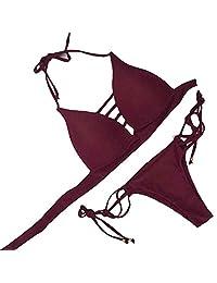 Sexy Women Bikini Set Swimwear Push-Up Padded Bra Swimsuit Beachwear