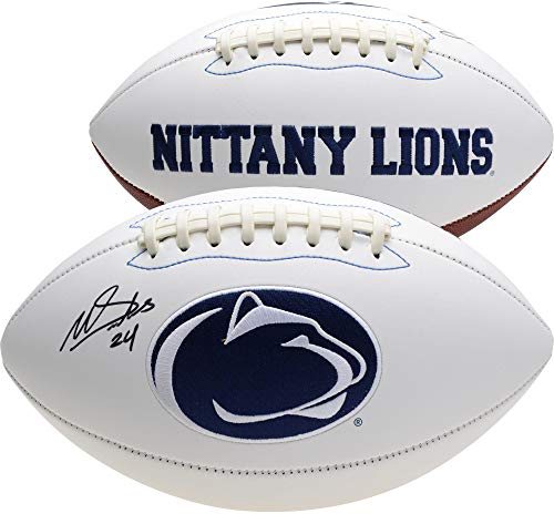 Miles Sanders Penn State Nittany Lions Autographed White Panel Football - Fanatics Authentic Certified