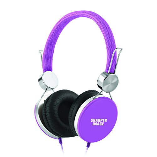 sharper-image-shp41pu-stereo-headphones-with-microphone-high-performance-sound-slick-design-purple