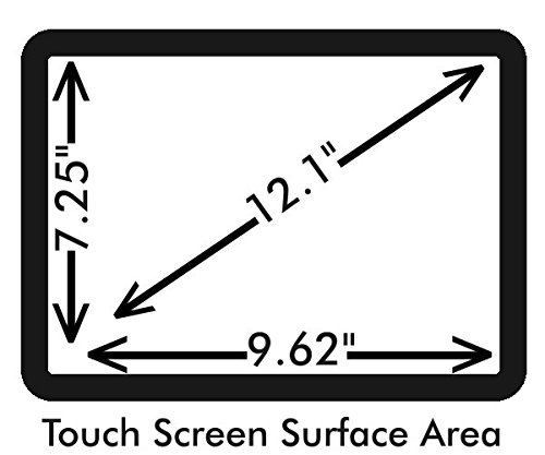 Anti-Glare 12.1'' POS Touch Screen Protector For Micros WS4 With Anti-Fingerprint properties.
