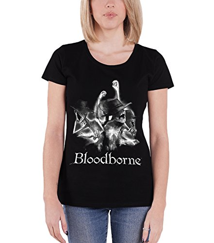 Price comparison product image Bloodborne T Shirt Tophat Official Womens Junior Fit Black