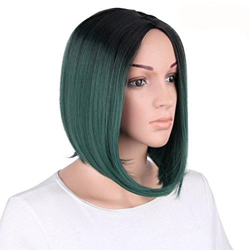 Amazon.com: Huphoon Cosplay Wigs Women Cool Short Straight Gradient Silk Material Full Wig 35cm: Beauty