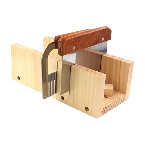 Biowow Adjustable DIY Soap Cutter Mold Wood Handmade Loaf Cutter with 2pc Planer Cutting Tool Set