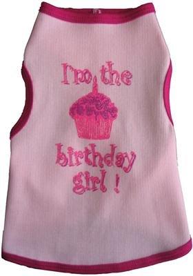 Birthday Girl Tank Dog (I See Spot Birthday Girl Dog Tee Shirt Tank Large)