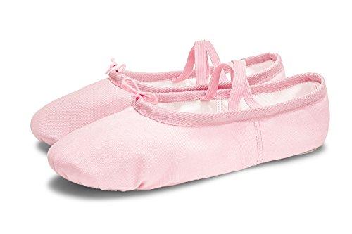 L-RUN Mädchen / Frauen Canvas Ballett Tanzschuhe / Ballett Versender / Yoga Schuh Rosa