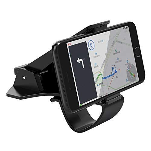 (Car Phone Holder, Multifunction Mobile Phone Holder Adjustable Dashboard HUD Clip Car Mobile Navigation Bracket)