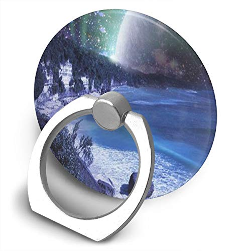 Ring Holder Planet Rise Ring Mobile Phone Holder Adjustable 360° Rotation Finger Grip Holder for Ipad, Kindle, Phone X/6/6S/7/8/8 Plus/7, Galaxy S9/S9 Plus/S8/S7, Android Smartphone, Divi, Accessorie