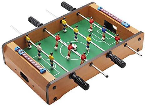 WHTBOX Futbol de Mesa/FutbolíN para,Adecuado Personas Mayores de 3 AñOs,Juego De Mesa,FúTbolista,Deporte,Soccer,Football, BalóN Robusto,Resistente,Brown-L: Amazon.es: Jardín