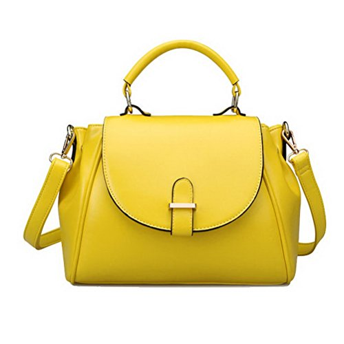 Fashion Road Womens Modern Retro Top Handle Bag Pu Leather Satchel Handbag - Fashion Modern Retro