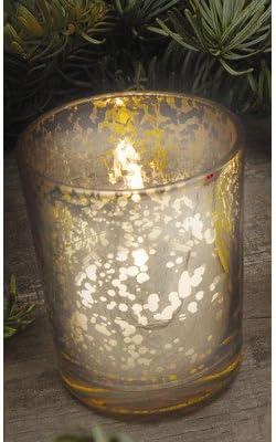 Amazon Com Rustic Glass Votive Candle Holder Quantity 4 Pieces Color Silver Home Kitchen