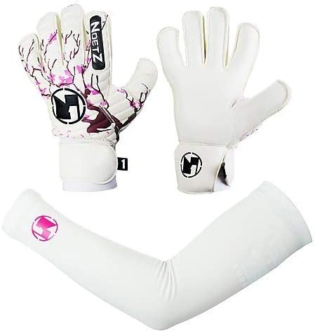 Premium quality feather light NoetZ Soccer Kids Youth Adult Goalie Goalkeeper Gloves Removable thumb Fingersave Protection New4+1 Design breathable design with extraordinary grip and comfort