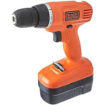 Amazon.com: Black & Decker 18v Cordless Drill/Driver Kit (GC1800-30 ...