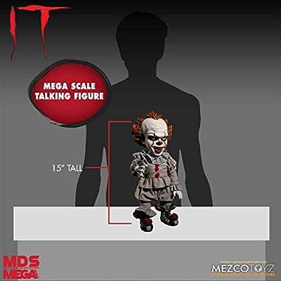 MEZCO DESIGNER SERIES IT (2020): Mega Scale Talking Pennywise: Toys & Games