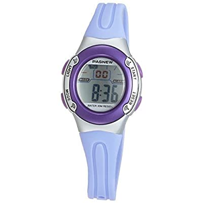 Casual Waterproof Children Girls Digital Sport Watches with Alarm, Chronograph, Date (Purple)