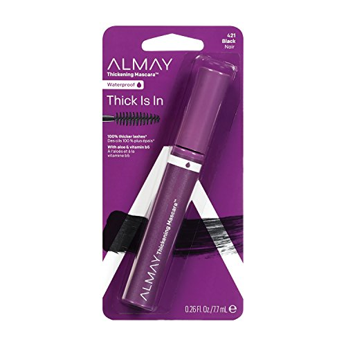Almay Thickening Mascara, Blackest Black, Ophthalmologist Tested, Fragrance Free, Hypoallergenic, 0.26 oz ()