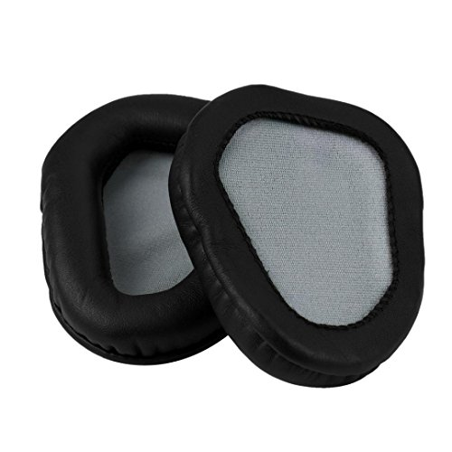 Alonea Ear Pads Cushions Replace for Mad Catz Cyborg F.R.E.Q.5 Freq5 Gaming Headset (Black)