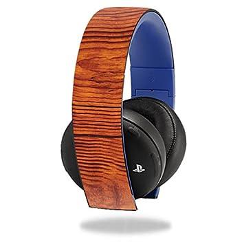 MightySkins Carcasa Protectora Skin Adhesivo para Sony PS4 Dorado Auriculares inalámbricos Auriculares Adhesivo Skins con Nudos de Madera: Amazon.es: ...