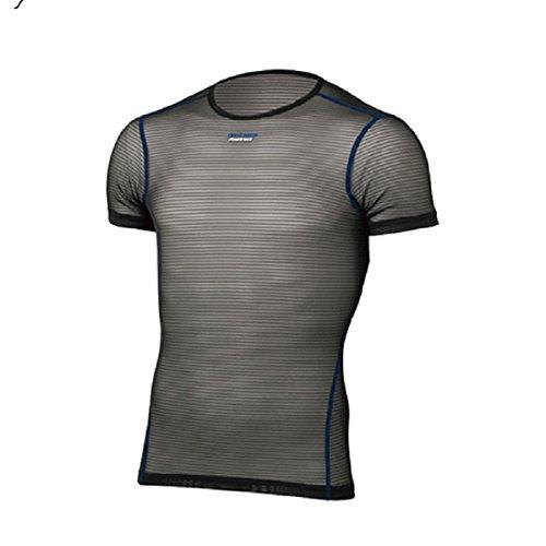 スクラップ抱擁動的ファイントラック finetrack Men's パワーメッシュ Tシャツ FUM0812 (BK)
