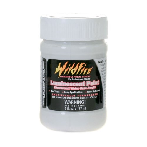 Wildfire Invisible Blue Black Light Paint, 6 Ounce Bottle