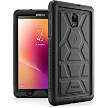 Galaxy Tab A 8.0 (2017) Case, Poetic TurtleSkin Rugged Heavy Duty Silicone Sound-Amplification Cover Case for Samsung Tab A2 S /SM-T385 /T380 / Galaxy Tab A 8.0 2017 [NOT FIT 2015 VERSION] Black