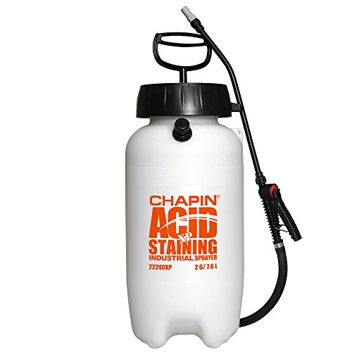 Chapin 22240XP 2-Gallon Industrial Acid Staining Sprayer with Pressure Relief Valve for Acid Staining and Acid Cleaning, 2-Gallon (1 Sprayer/Package)