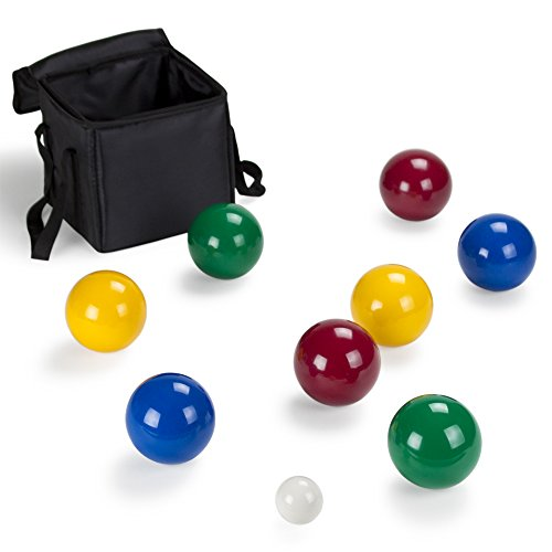 Deluxe Heavy Duty Composite Resin Bocce Ball Set with Case by CSG