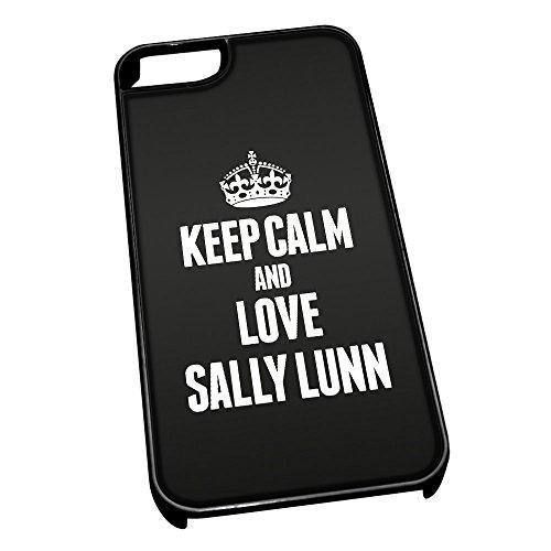 Nero cover per iPhone 5/5S 1483nero Keep Calm and Love Sally Lunn