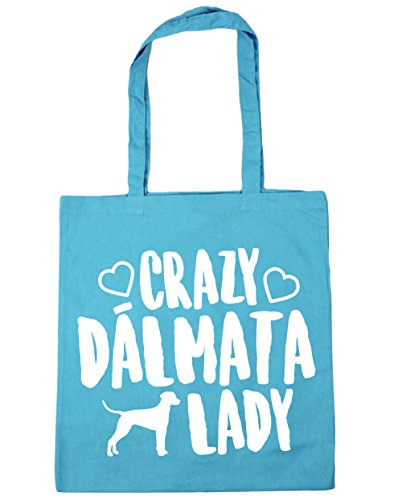 With 10 Shopping Dalmatian Beach 42cm For Crazy Fitness Bag Liters Capacity Bag X Handles Azure 38cm Hippowarehouse Lady qAZXwZB