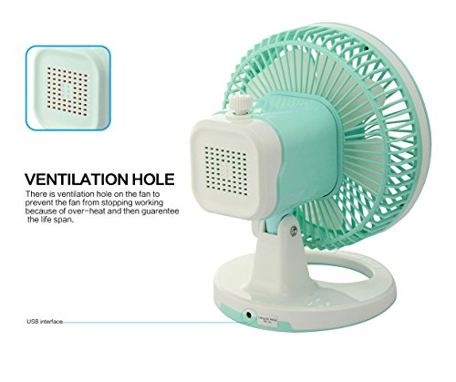 E Joy Oscillating Table Fan 2 Speed Desk Fan Air