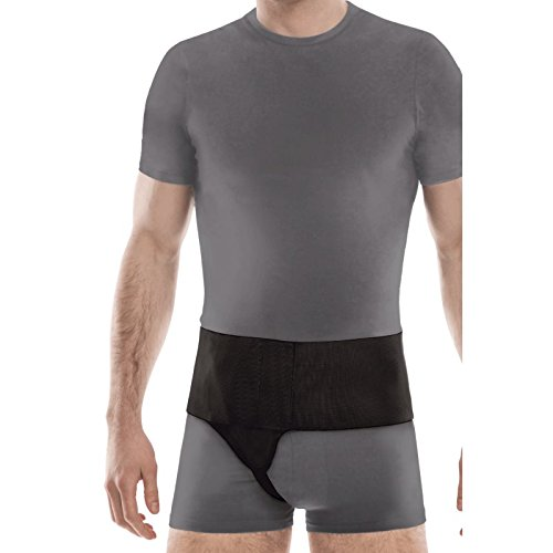 Right Side Inguinal Groin Hernia Belt Small Black