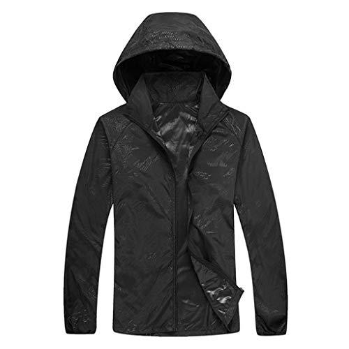 (Men's Women Long-Sleeved Hooded Jersey Casual Jackets Windproof Ultra-Light Rainproof Windbreaker Sun Protection Top)