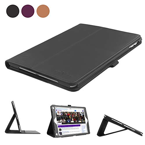 Boriyuan Leather Case Compatible for iPad 9.7 2018(6th Gen)/2017(5th Gen)/iPad Pro 9.7/iPad Air 2 &1- Leather Smart Cover Protective Folio Flip Stand with Pencil Holder Magnetic Auto Sleep/Wake(Black) ()