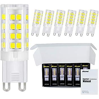 Dicuno G9 Led Ceramic Base Light Bulbs 4w 40w Halogen
