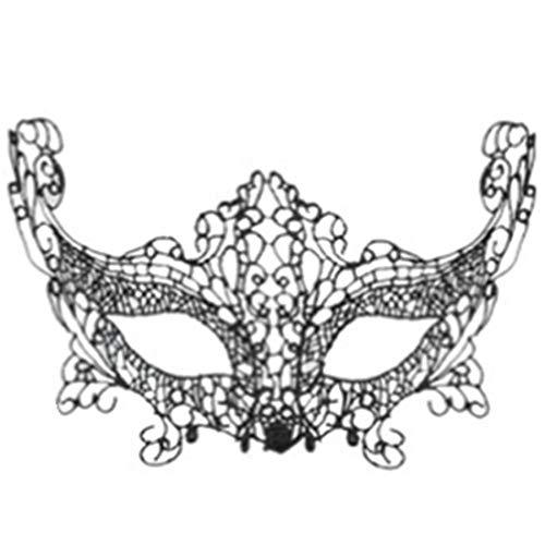 Black Hairnet - Black Women Fashion Sexy Lace Eye Mask Venetian Masquerade Halloween Costumes Carnival Ball Party - Decorations Party Party Decorations Butterfly Lace Mask Gift Lingerie -