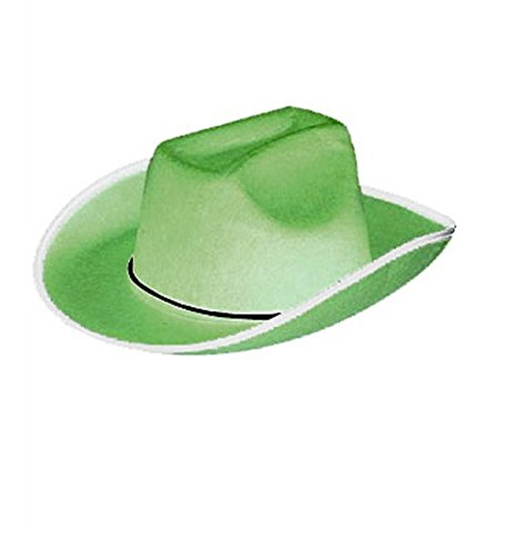 Adult Size Green Felt Cowboy Hat (Lone Cowboy Adult Costume)