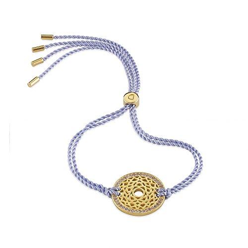 Daisy Lilac Gold Swarovski Crystal Crown Chakra Bracelet