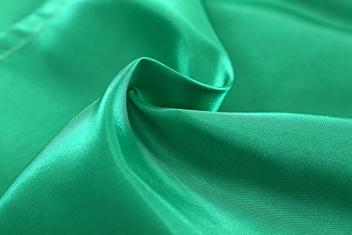 charmsamx Short Curtain Panels Luxury Semi Voile Rod Pocket Panels for Bedroom 39 L x 55 W Semi Blackout Curtains Window Treatments for Kitchen Bright Color (Green) ()