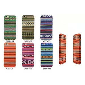 ZL Rainbow Folk Style PU Shell Cover with and Card Slot for iPhone 6 (Assorted Colors) , 1#